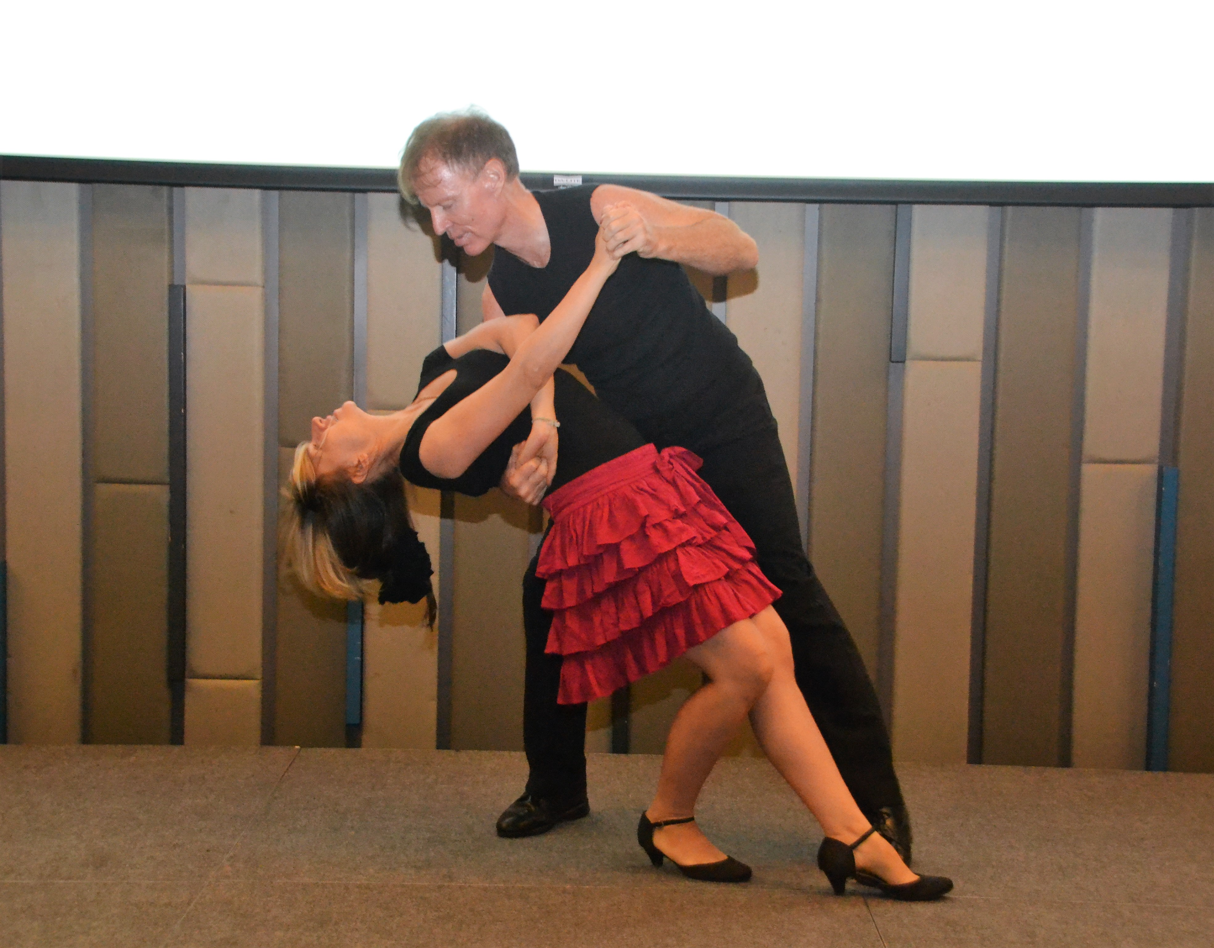 Ren Lexander concluded his presentation by performing a routine with his lovely dancing partner Sofi Ko to the delight of the PCEC members and guests.
