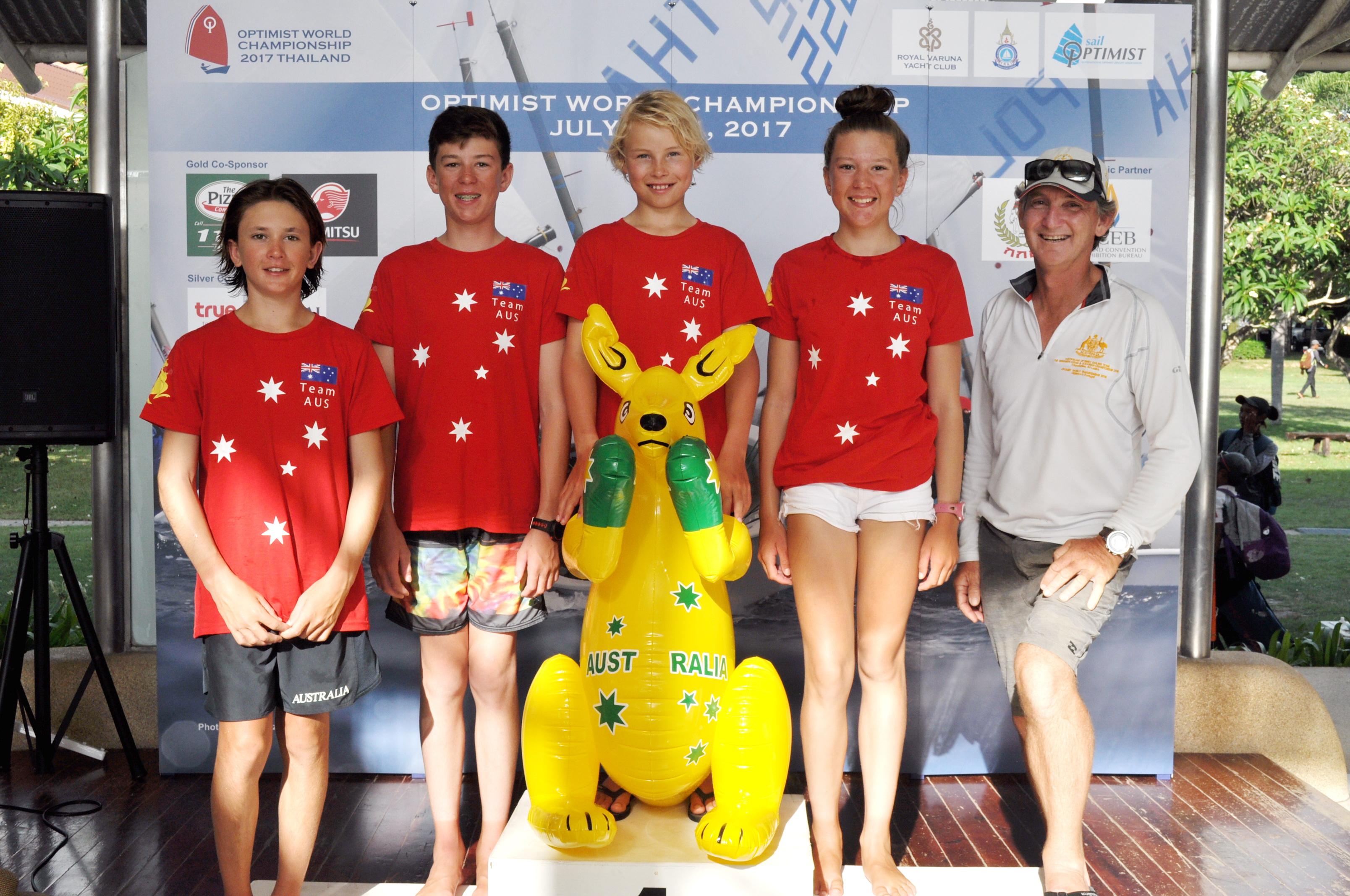 The Australian team.