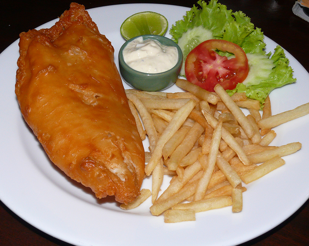 The Fish and Chips Friday special.