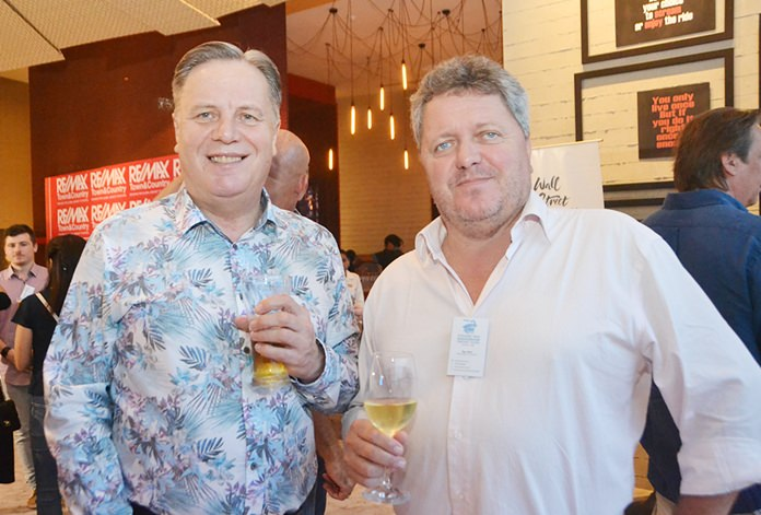 Simon Matthews, Manpower, and Ray Matti, Public Relations Consultant of Chang Mai international Cricket Sixes.