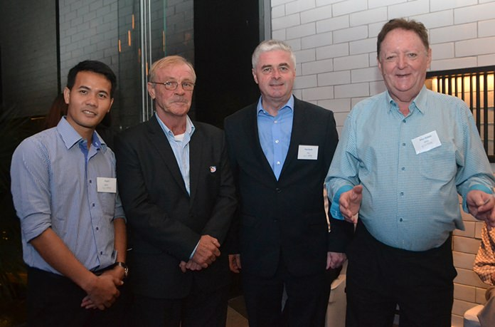 Pasit Foobunma, director and webmaster at SATCC, Steve Devereux, Paul Scales, President Irish – Thai Chamber, and Allan Riddell, Consultant to the Board at SATCC.