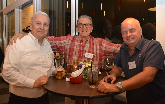 David R. Nardone, President and CEO of the Hemaraj Land and Development Company Limited, George Strampp and Claude Dugas.