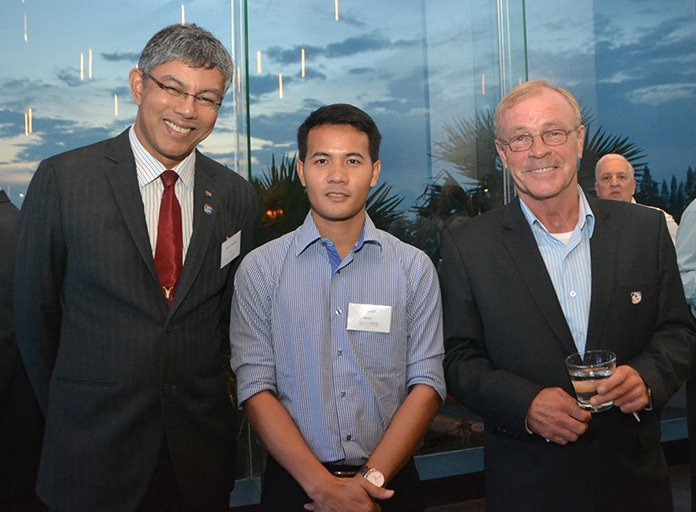 Regil Ratnam from SATCC, Pasit Foobunma, director and webmaster at SATCC, and Steve Devereux.