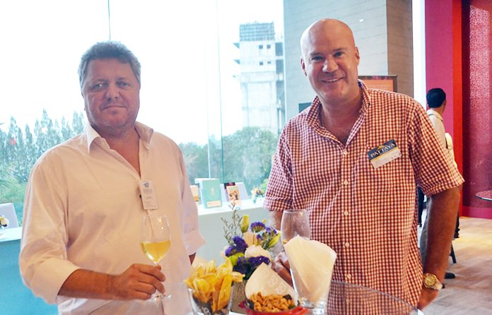 Ray Matti, Public Relations Consultant of Chiang Mai international cricket sixes, and Stuart Daly, Managing Director of Pattaya Realty.