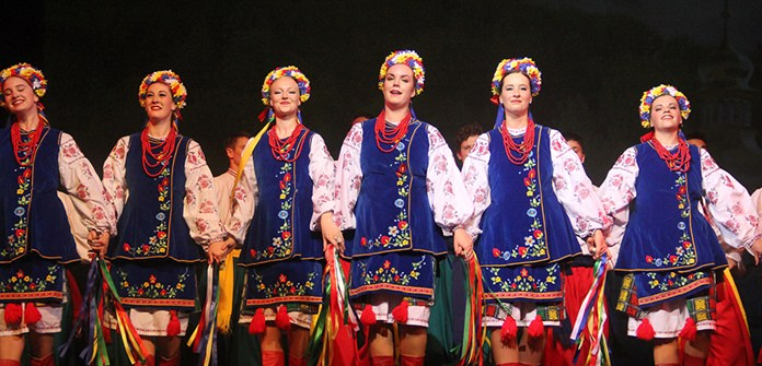 Traditional hopak costume from the Ukraine.