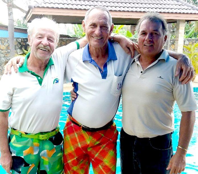John Deardon, Bill Marsden and Thiery Petrement.