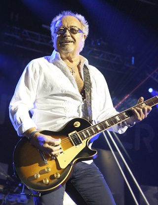 Mick Jones of the band Foreigner is shown performing in this July 3, 2014 file photo. (Photo by Owen Sweeney/Invision/AP)