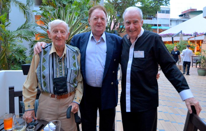 (L to R) Archie Dunlop B.E.M., Allan Riddell, Counselor to the Board of the SATCC, and Dr. Iain Corness.