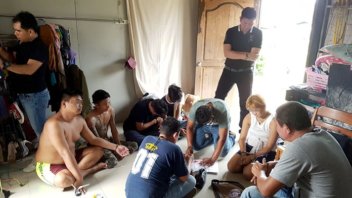 Six people – including two minors – were arrested for allegedly dealing drugs in Sattahip.