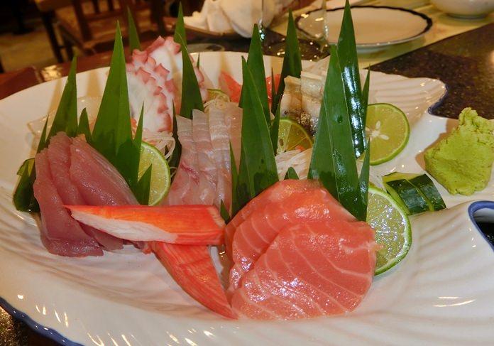 Assorted sashimi and wonderful.