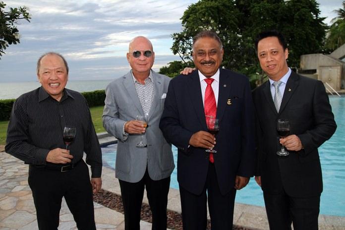 H.E. Chatchawal Supachayanont, Hon Swedish Consul in Pattaya, Dr Sunya Viravaidya, CEO of Pattaya International Hospital Group, Peter Malhotra, MD of Pattaya Mail Media Group and Neoh Kean Boon, GM of Dusit Thani Pattaya.