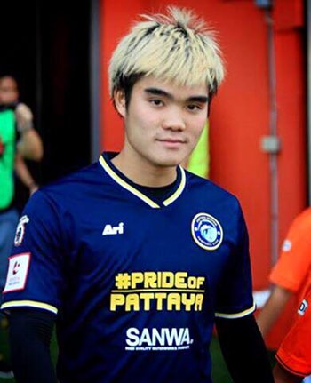 Pattaya United's Peeradol Chamratsamee has been called up to the national squad. (Photo courtesy Pattaya United)