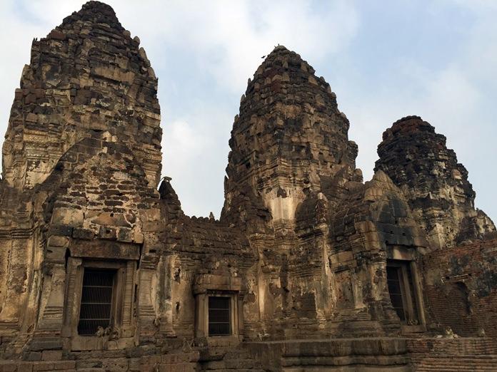Prang Sam Yot, the Khmer temple in Lopburi.