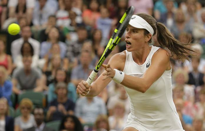 Konta to face Halep in quarter-finals