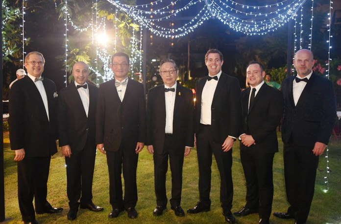 The VIP's looking immaculate in preparation for the Awards evening, including Andre Brulhart (left), GM of Centara Grand Mirage Beach Resort Pattaya.