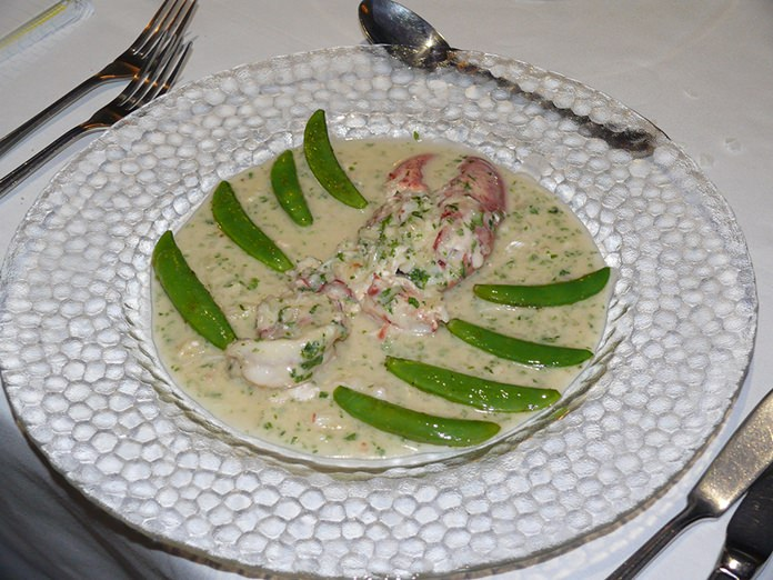 Canadian lobster in champagne sauce.