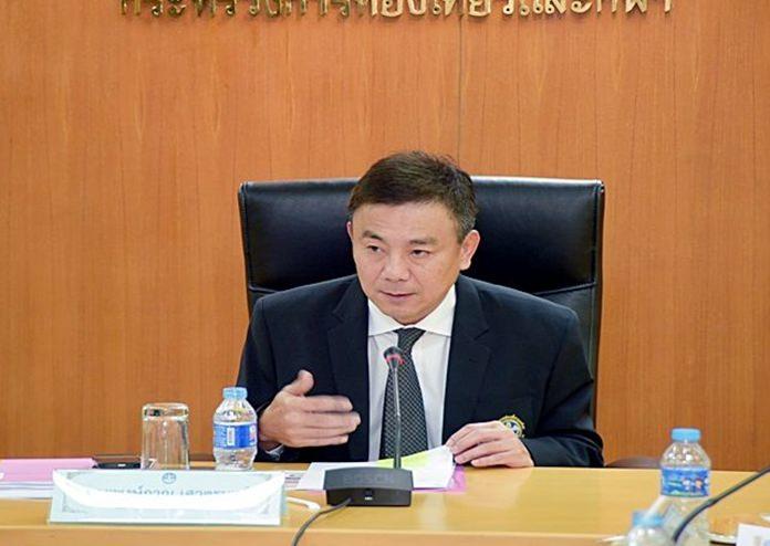 Ministry of Tourism and Sports Permanent Secretary Pongpanu Svetarundra.