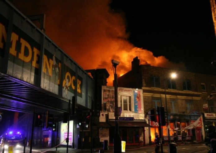 Major fire at London's Camden Lock Market