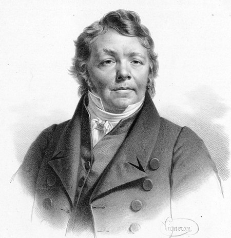 Johann Nepomuk Hummel in 1820. (Engraving by Pierre Roche Vigneron)