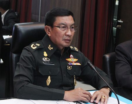Maj. Gen. Popanan Luengpanuwat says the military wants companies operating at or near Bali Hai Pier to shut down for two days in November so it can stage its international fleet show.