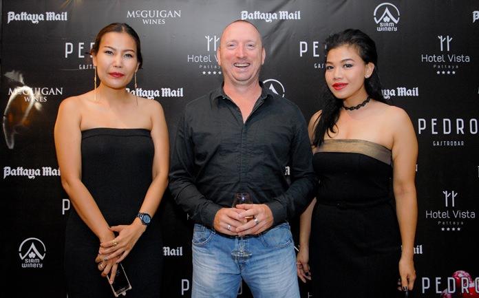 Parn Sirirat, Martin Crichton and Koonlapatporn 'Jeab' Intarasing from Siam Winery