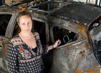 Exploded Murano. (Photo/Courier Mail Brisbane, Australia).