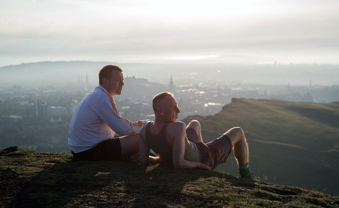 "This image shows Ewan McGregor (left) and Ewen Bremner in a scene from ""T2: Trainspotting."" (Graeme Hunter/Sony - TriStar Pictures via AP)"