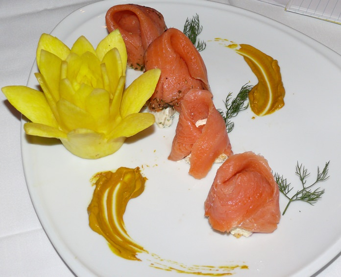 Salmon all the way from the Fiords.