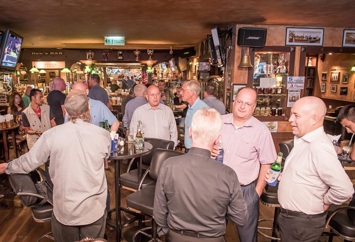A lively turn out for the After Hours at Jamesons.