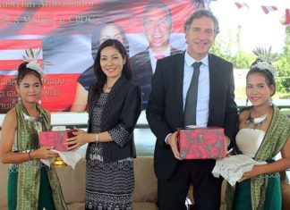 HE Ambassador Enno Drofenik and his lovely wife Juri are welcomed to the CPDC.