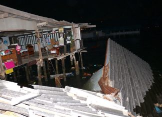 A 24-year-old Burapha University student drowned when her family's home collapsed into the sea in Sattahip.