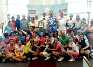Khao Kheow caddies pose with Tara Court Golf organizers at the conclusion of the 5th annual Jaa Memorial Cup.
