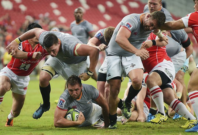 South Africa's Southern Kings are shown in action against Japan's Sunwolves in this March 4, 2017 file photo. (AP Photo/Joseph Nair)
