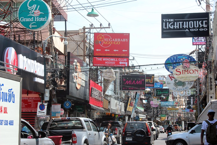 Advertising signs and overhead cables dominate the vista on Pattaya's Walking Street - but for how much longer?