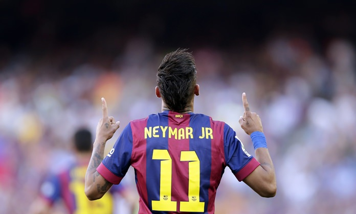 FC Barcelona said Wednesday, Aug. 2, that Neymar's 222 million euro release clause must be paid in full if the Brazil striker wants to leave and join French club Paris Saint-Germain. (AP Photo/Manu Fernandez)