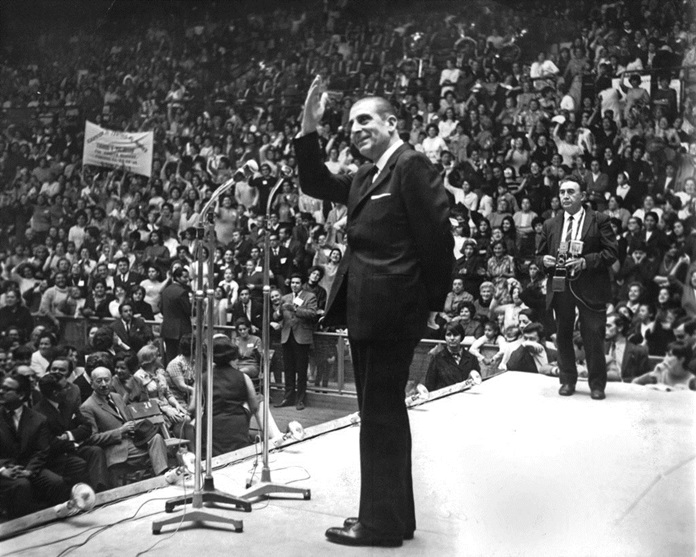In this undated file photo, Chilean President Eduardo Frei Montalva, who governed Chile from 1964 to 1970, waves to supporters. (AP Photo/La Tercera, File)