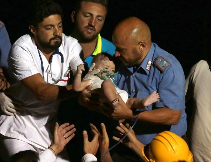 Two dead, but trapped kids saved in Italy