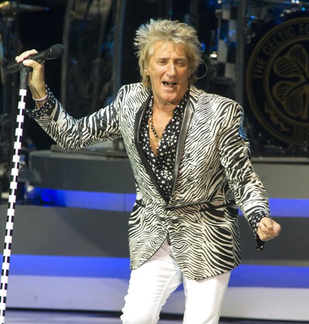 In this July 12, 2017 file photo, Rod Stewart performs in Camden, N.J(Photo by Owen Sweeney/Invision/AP, File)