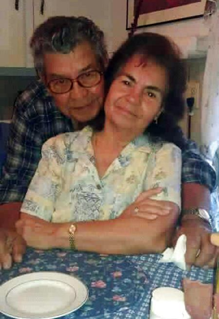 This undated photo provided by Virginia Saldivar shows her mother- and father-in-law, Belia and Manuel Saldivar, presumed dead after their van sank into Greens Bayou on Houston's eastside. (Virginia Saldivar via AP)