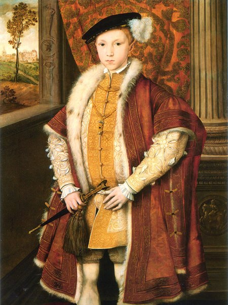 Prince Edward in 1546 aged nine – the year he was crowned King of England.