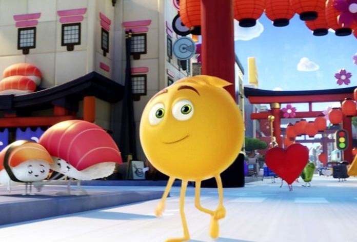 "This image shows Gene, voiced by T.J. Miller, in Columbia Pictures and Sony Pictures Animation's ""The Emoji Movie."" (Sony Pictures Animation via AP)"