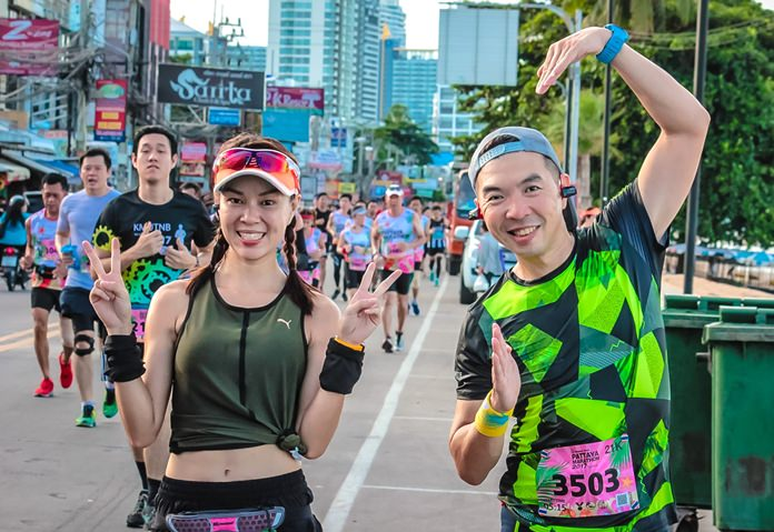 Runners and walkers of all ages and abilities donned their sports shoes on Sunday morning, Sept. 3 to take part in the 2017 annual Pattaya city marathon. Well-trained athletes and weekend warriors rubbed shoulders as they threaded their way through the city's streets, aiming for ultimate glory or to reach their own personal goals in a mass celebration of sportsmanship and community spirit.