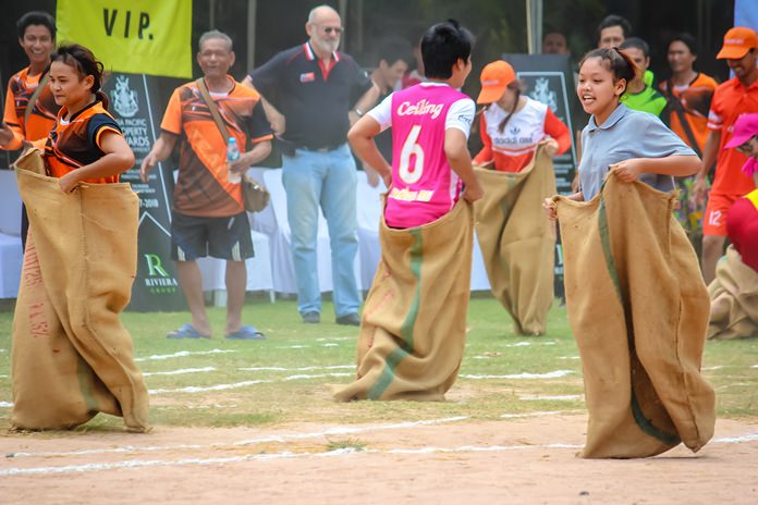 The Sack Race is even harder than it looks.