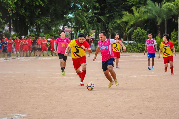The football tournament was the highlight of the event.