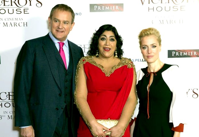 """Viceroy's House"" was directed by Gurinder Chadha (centre) and stars Hugh Bonneville (left), who plays Lord Mountbatten in the film, and Gillian Anderson (right), who plays his wife. (AP Photo/file)"
