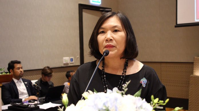 Suladda Sarutilavan, Director of Tourism Authority of Thailand Pattaya Office, announces the Tourism Authority of Thailand will highlight food, shopping and business meetings to drive tourists to Pattaya and the east in 2018.
