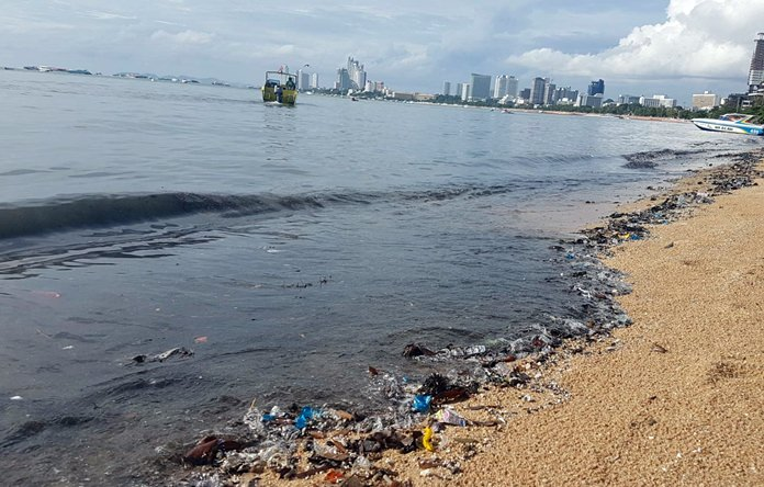 The government has chosen Pattaya as the place to start a new push to control water pollution in tourism destinations following this high-profile sewage spill in July.