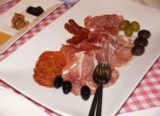 An Italian meal requires antipasto.