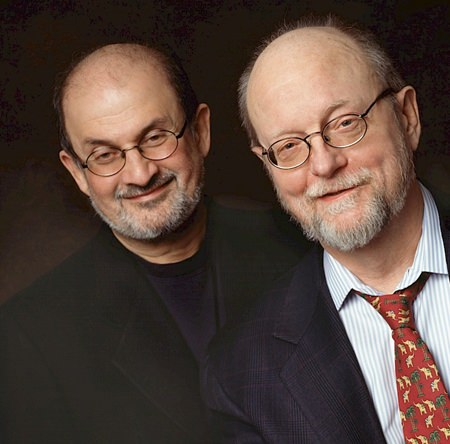 Charles Wuorinen (right) with author Salman Rushdie (Photo/Susan Johann)