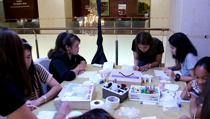 Bangkok Hospital Pattaya continued its series of Mother's Day workshops with a nail-painting class for women.